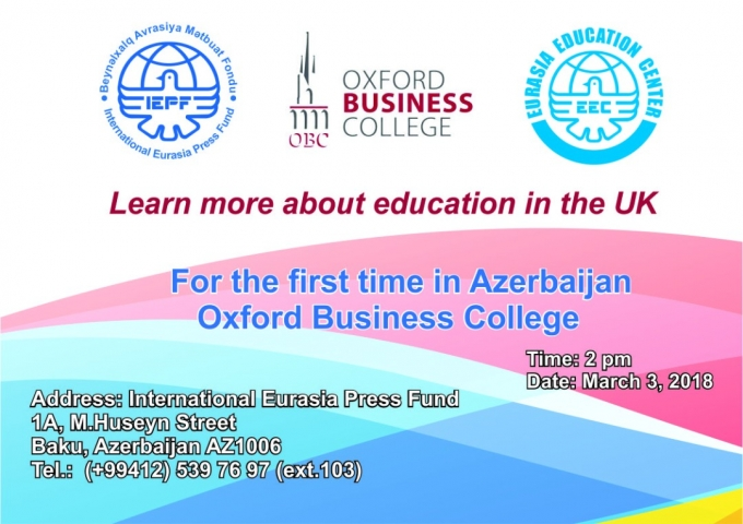 For the first time in Azerbaijan: Oxford Business College
